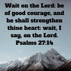 Psalms Wait on the LORD: be of good courage, and he shall strengthen thine heart: wait, I say, on the LORD. Wonderful Things, Nice Things, Scriptures, Bible Verses, Psalms 27 14, Be Of Good Courage, Bubble Quotes, Jesus Painting, Amen