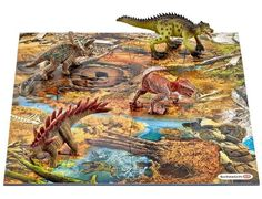 Image of Mini Dinosaurs with Marshland Puzzle Mat Pack