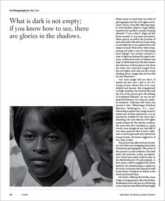 On Photography 'Essayist, novelist and photographer Teju Cole will consider the many ways that photographs and videos are used to convey meaning in modern life. We have removed the traditional head and subhead here, leading instead with a short, inviting sentence. This page will rotate with essays on money, clothing and nature, and all of the columns will include digital-only content on our web site.'