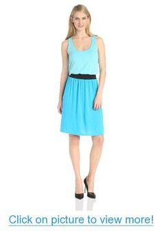 Allison Brittney Women's Sleeveless Colorblock Smocked Waist Dress #Allison #Brittney #Womens #Sleeveless #Colorblock #Smocked #Waist #Dress