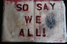 So say we all... (art journaling) | Rambling Silently