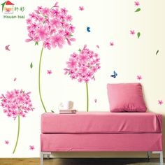 Promotion price Pink Dandelion flower love Vinyl Wall Stickers Home Decor Art Decals Wallpaper Bedroom Sofa house decoration adesivo de parede just only $3.19 with free shipping worldwide  #wallstickers Plese click on picture to see our special price for you