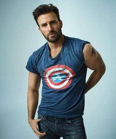 Chris Evans. Captain America.