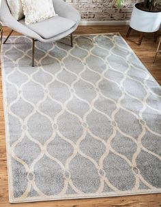 Light Gray 100cm x 160cm Trellis Rug | Area Rugs | AU Rugs