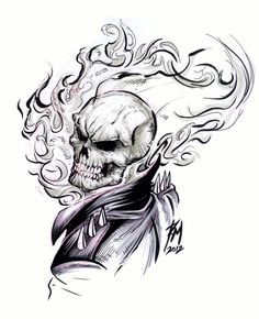 how to draw ghost rider cartoon - Google Search