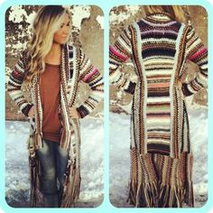 ♥ long sweater, #boho #fashion #womens