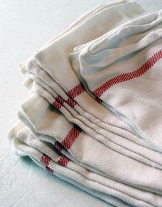 IKEA Tekla Dishtowels, part of party favors. Possibly even stamped/embroidered.