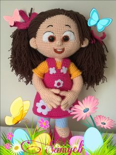 Niloya amigurumi free pattern, doll oyuncak bebek