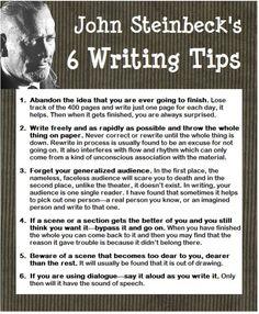 John Steinbeck's 6 Writing Tips.