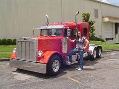 Lil Big Rig Mini Semi Tractors pickup truck converted into a Pete!!