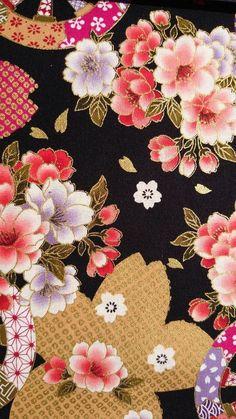 The Kimono Gallery — Yūzen 友禅 Auparavant les kosode 小袖. Japanese Textiles, Japanese Patterns, Japanese Prints, Japanese Design, Oriental Print, Oriental Pattern, Japanese Paper, Japanese Fabric, Textile Patterns