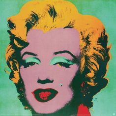 """""""Marilyn Green-Small by Andy Warhol"""" - Marilyn Monroe posters and prints available at Barewalls.com"""