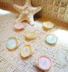 貝殻キャンドル | ハンドメイド、手作り作品の通販 minne(ミンネ)