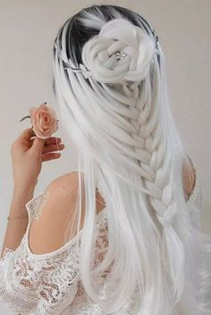65 Badass Box Braids Hairstyles That You Can Wear Year-Round - Hairstyles Trends Cute Hair Colors, Pretty Hair Color, Beautiful Hair Color, Hair Dye Colors, Down Hairstyles, Pretty Hairstyles, Wedding Hairstyles, Hairstyle Short, School Hairstyles