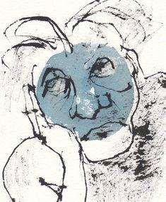 Original Portrait Drawing by Tobias Inigo Blueprint Art, Conceptual Art, Tobias, Sadness, Paper Art, Saatchi Art, Watercolor, Ink, The Originals