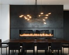 blackened steel fireplace - Google Search