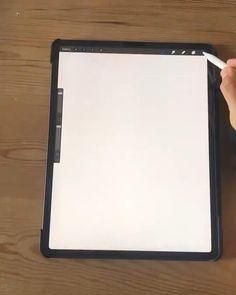 Digital Painting Tutorials, Digital Art Tutorial, Art Tutorials, Art Drawings Sketches Simple, Pencil Art Drawings, Art Du Croquis, Ipad Art, Grafik Design, Digital Illustration