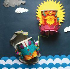 verres en carton décorés  - Ame Design - amenidades do Design . blog: papel
