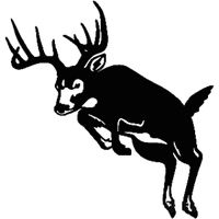 Whitetail Deer Jumping Decal ST2010D #003 Wildlife Hunting