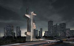 """BLUE TAPE"" the winner of Dubai Architecture School Tower competition | Architecture LabArchitecture Lab"