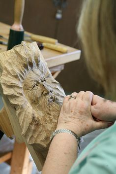 Carving Spirit Faces with Terry Brasher at the John C. Campbell Folk School | folkschool.org