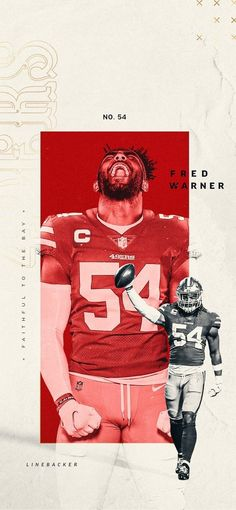 San Francisco Forty Niners Fred Warner Wallpaper #NinerNation #49ERS Forty Niners, Lit Wallpaper, Background Images, Nfl, Faith, Movie Posters, San Francisco, Catalog, Layers