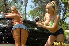 Phoenix Marie & Alanah Rae - Hot carwash