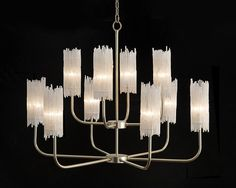 Natural Selenite Ten-Light Chandelier - Chandeliers - Fixed Lighting - Lighting - Our Products