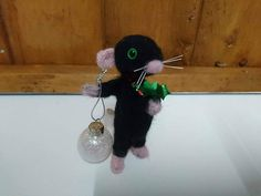 Items similar to Rat Needle felted animal rat Proposal rat, will you marry me rat Happy birthday gift, rat lovers gift cute rat with a bunch of flowers on Etsy Needle Felting, My Etsy Shop, Ornaments, Check, Cute, Christmas, Xmas, Kawaii, Weihnachten