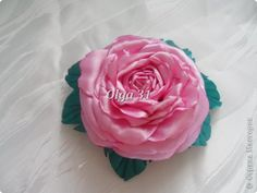 synthetic fabric SATIN ROSE WITH ROLLED PETALS FROM : Master Class Decorating Tsumami Kanzashi: MK Volume Rose Ribbons Graduation, Birthday.  Photo 1