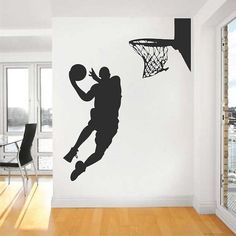 Hey, I found this really awesome Etsy listing at https://www.etsy.com/listing/196476734/basketball-player-wall-decal
