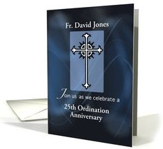 Invitation 50th ordination anniversary priest orn priest and ordination anniversary invitation personalize with name and year stopboris Choice Image
