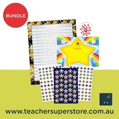 BUNDLE: Stars Merit Award Bundle  Star themed merit awards are perfect for rewarding students work and behaviour in a range of contexts and subjects. Award Certificates, Teaching Aids, Student Work, Helping Others, Behavior, Awards, Students, Range, Teacher
