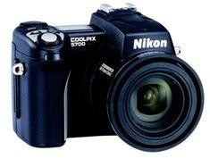 Nikon Coolpix 5700 Digital Camera w/ Optical Zoom (Discontinued by Manufacturer) Nikon Coolpix 5700, Camera Nikon, Binoculars, Digital Camera, Retro, Black, Image, Black People, Digital Cameras