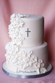 Simple baptism cake.