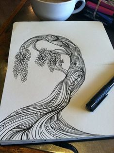 Moleskine sketches by catie cook, via behance drawings zentangle, temel san Painting & Drawing, Drawing Sketches, Art Drawings, Tangle Art, Zentangle Patterns, Art Design, Moleskine, Doodle Art, Art Projects