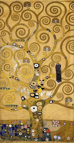 Klimt, Gustav - The Tree of Life - Fotobehang & Behang - Photowall