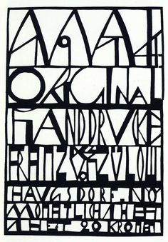 "felixinclusis: ""alfiusdebux: Franz von Zülow pochoir, 1914 [source] "" Art Deco Typography, Cool Lettering, Typography Letters, Hand Lettering, Typography Design, Josef Frank, Klimt, Type Design, Graphic Design"
