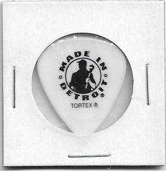 """1- Kid Rock Stage Used Guitar Pick """" Made In Detroit"""" Tortex From Chicago 2006"""
