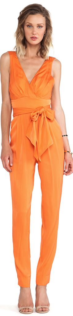 orange jumper jumpsuit belted #UNIQUE_WOMENS_FASHION http://stores.ebay.com/VibeUrbanClothing
