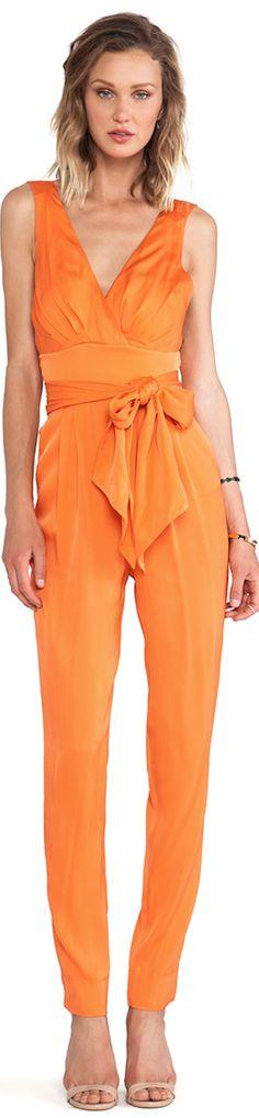orange jumper jumpsuit belted #UNIQUE_WOMENS_FASHION http://stores.ebay.com/VibeUrbanClothing
