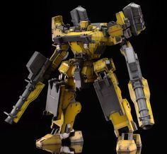 Armor Core GANO-1 Sunshine-L - Painted Build  Modeled by Schizophonic9