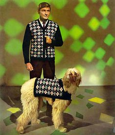 ... checkered man and dog!