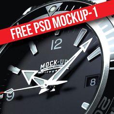 2 Free Watch Logo Mockups Freebies Display Free Graphic Design Logo Metallic MockUp Presentation PSD Resource Showcase Template Watch