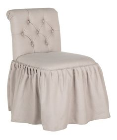 Love this Cream Magdaline Vanity Chair on #zulily! #zulilyfinds