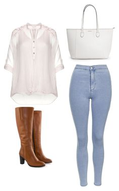 """Outfit Idea by Polyvore Remix"" by polyvore-remix ❤ liked on Polyvore featuring Jilsen Quality Boots, Topshop, Nostalgia, women's clothing, women, female, woman, misses and juniors"