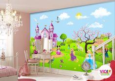 Fototapet Copii Disney Princes - VIODesign Tinkerbell, Disney Princess, Disney Characters, Art, Character, Photo Wallpaper, Art Background, Kunst, Tinker Bell
