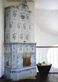 Scandinavian Chic: Scandinavian Design Classic: The Kakelugn...a beautiful tradtional wood burning stove