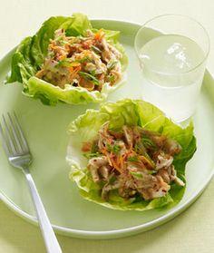 Easy Asian Chicken Salad Lettuce Cups
