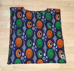 Green and Orange constellation print Tunic on navy blue background - Small